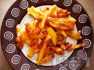 Рецепта Здравословни пържени картофи с белтъци на фурна